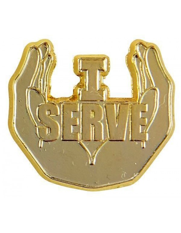 I Serve  lapel pin