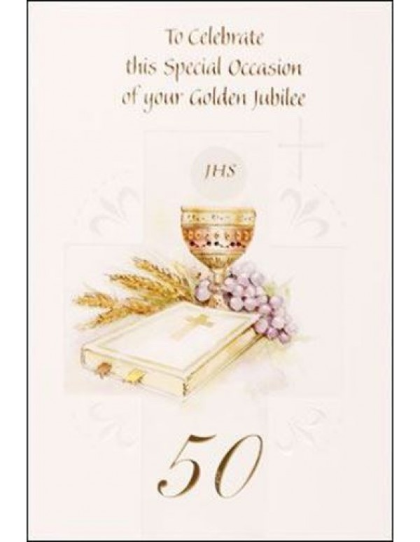 50 years - Priest Golden Jubilee Greeting Card