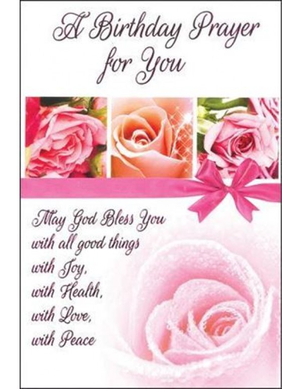 A Birthday Prayer for You - Greeting card