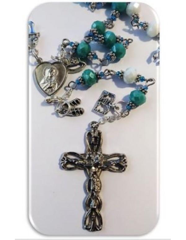 Aqua & White Armor of God Chaplet - Limited Edition
