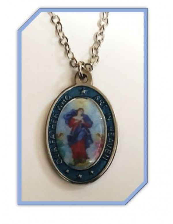 Our lady of Knots - Our Father Pendant & Chain