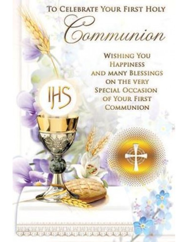 Celebrate your First Holy Communion greeting card