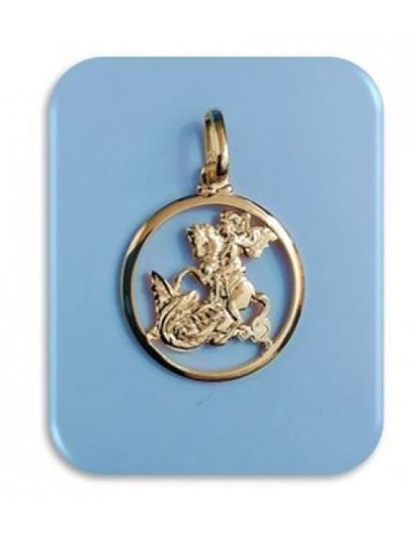 20mm 18 karat gold filled St George Pendant