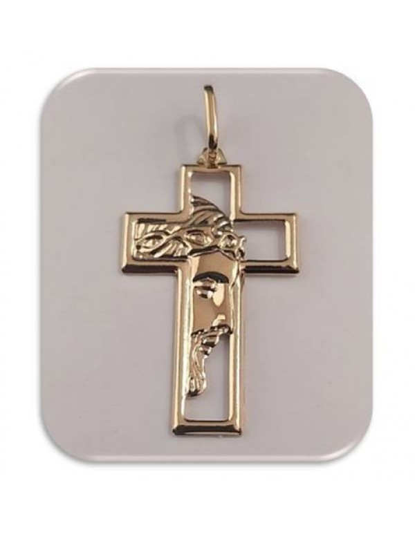 37mm 18kt Gold filled Ecce Homo Cross