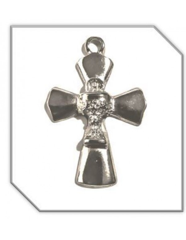 4cm Silver Cross with Chalice in the Centre