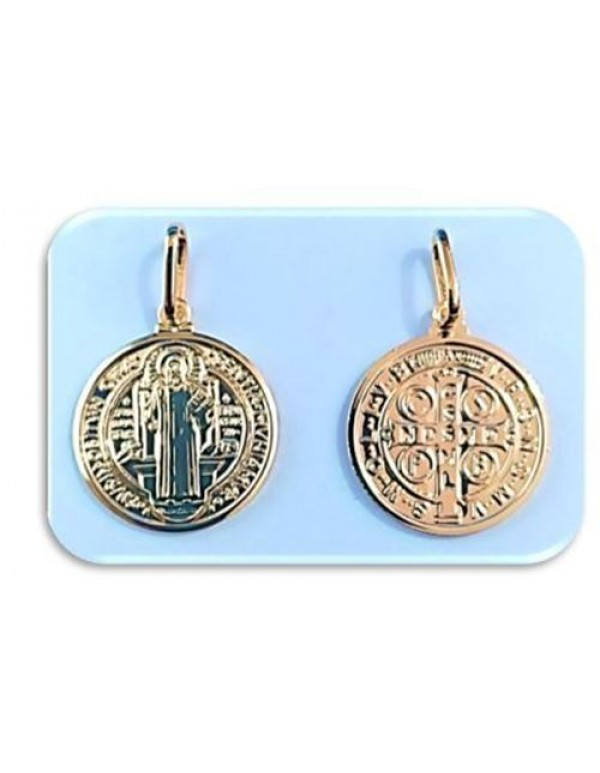 20mm St Benedict 18kt gold filled Pendant
