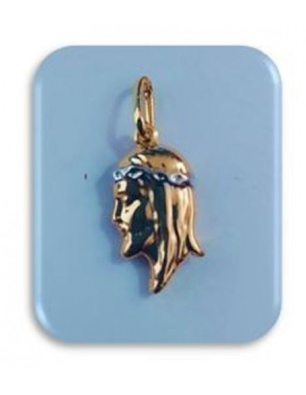 17mm Ecce Homo 18kt gold filled - 2 tone Pendant