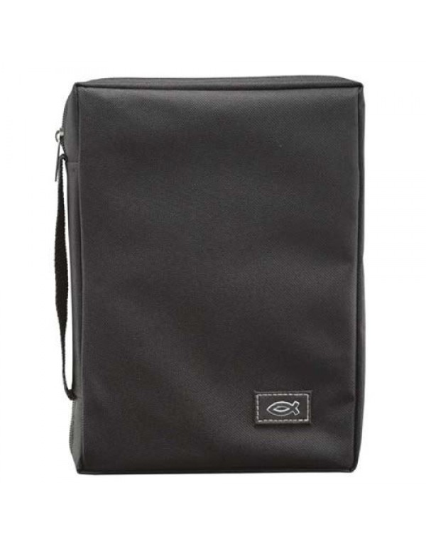 Bible Bag - Black with fish