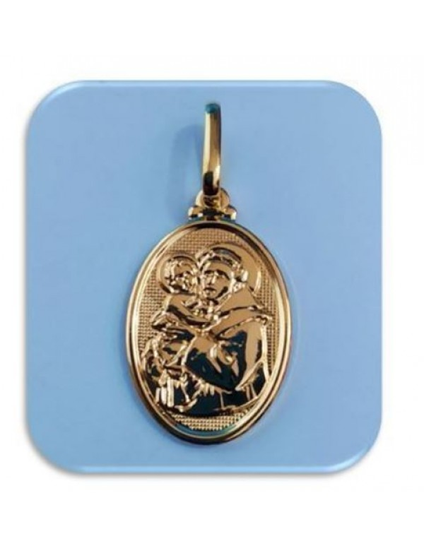25mm St Anthony 18kt gold filled pendant