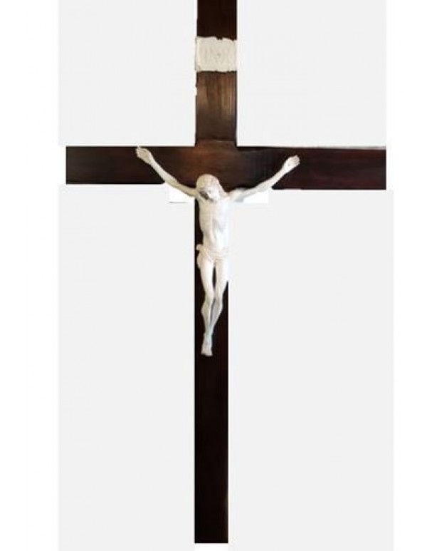 2 meter wooden Crucifix with Vanilla White corpus - ONLY ONE IN STOCK!