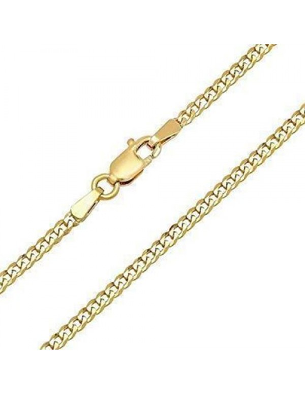 60cm Curb Link Chain 2mm - 18kt Gold filled