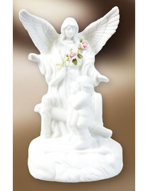 12cm Porcelain Guardian Angel  Statue with LED light
