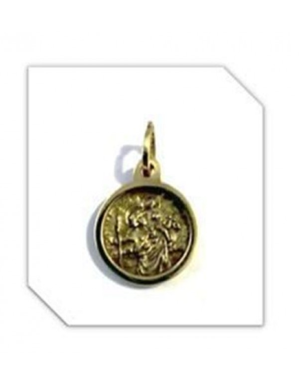 13mm 9ct Gold St Christopher Pendant