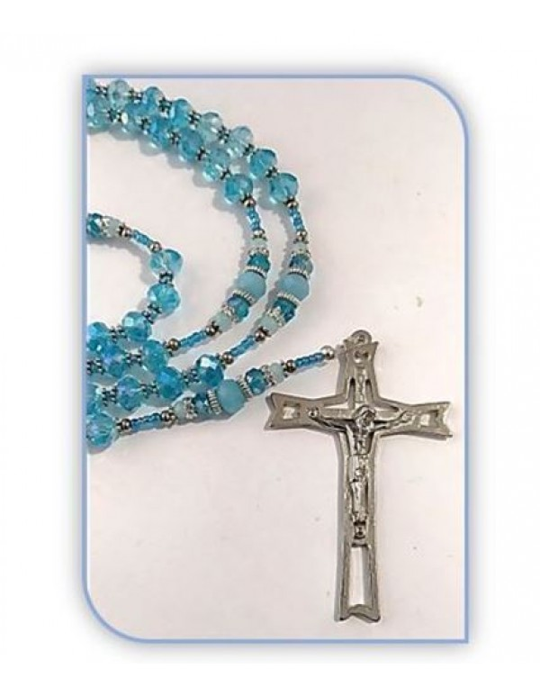 Birthstone Rosary - Aquamarine / March