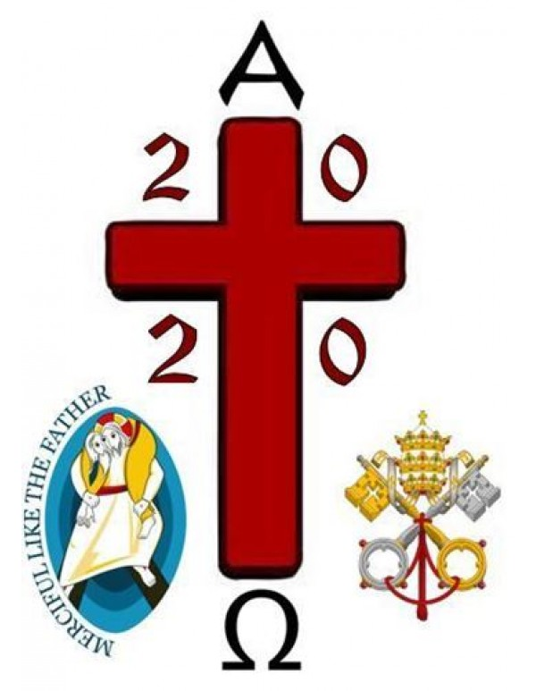 2020 - Merciful Father / Papal Paschal Easter Candle - 100mm x 600mm