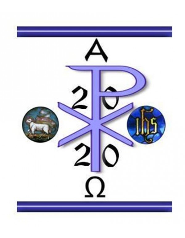 2020 - Blue Paschal Candle - 100 x 600mm