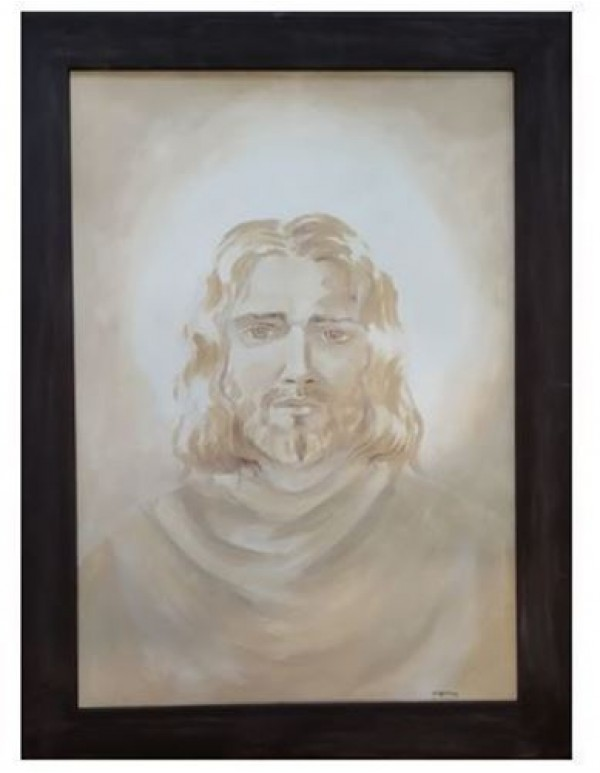 Painting of Jesus - Framed - 60 x 42cm