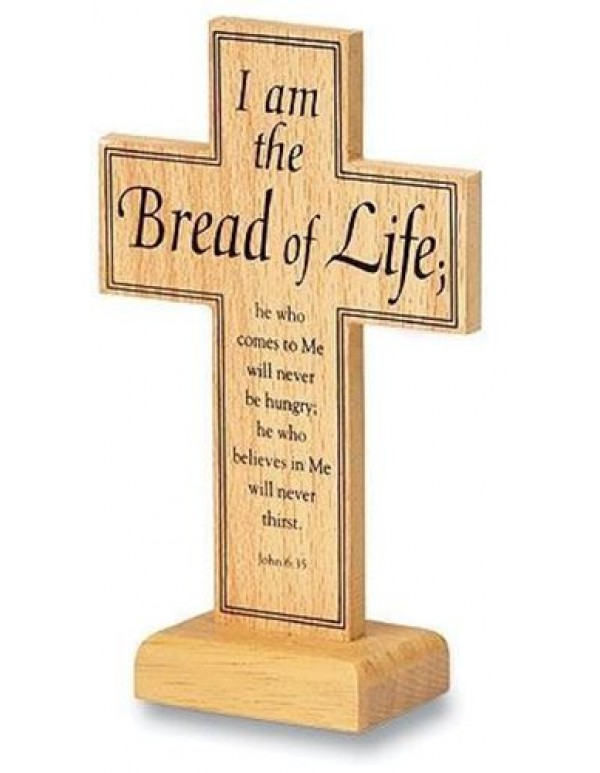 13.5cm - I am the Bread of Life Wood Cross