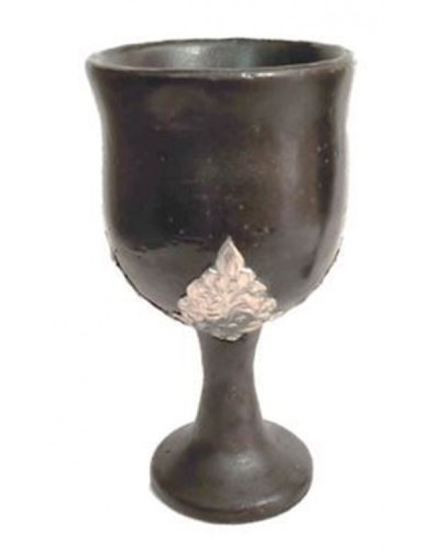 Ceramic Chalice with Pewter design - 150ml
