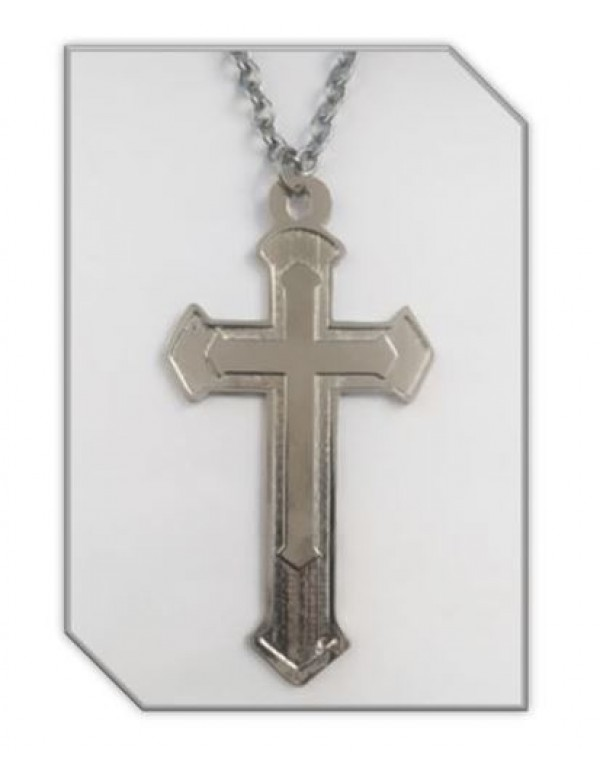 11.5cm Pectoral Cross - Silver with 60cm chain
