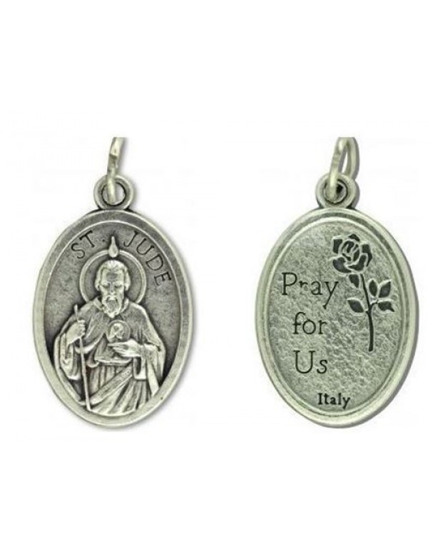 St Jude Sterling Silver Pendant