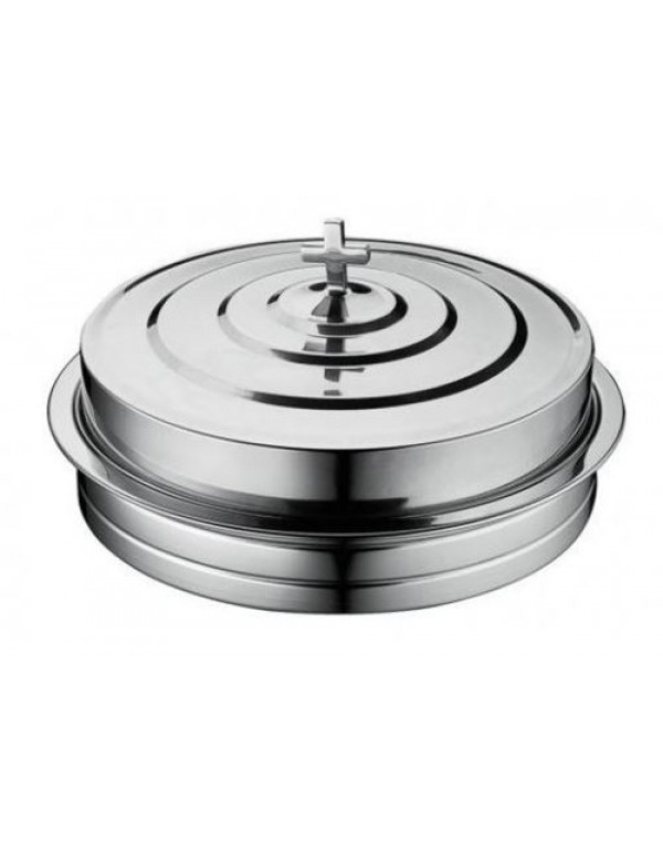 40 hole with lid polished Stackable Polished Aluminium Communion Tray